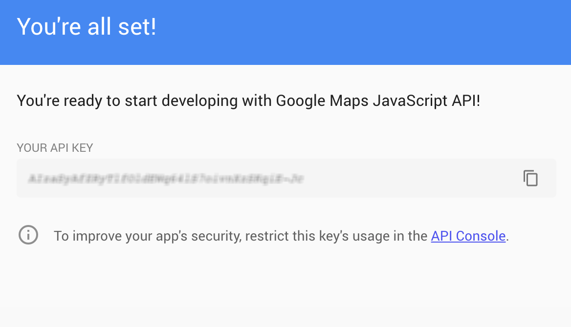 Create a Google Maps Javascript API key | Home on
