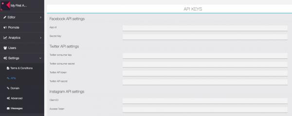 How to create API keys?   Home
